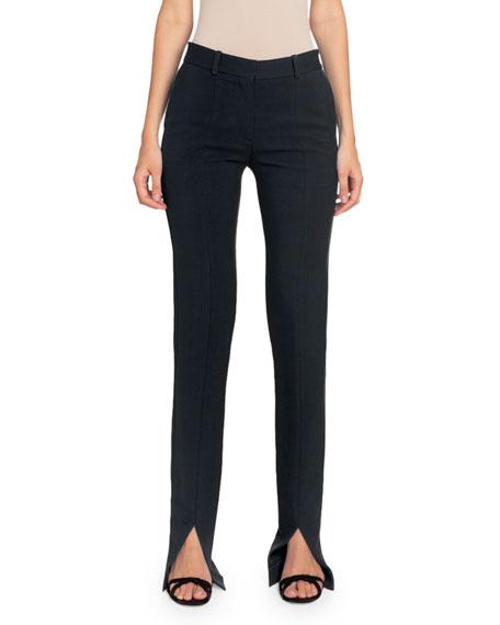 Victoria Beckham Twill Slit-Cuff Tuxedo Trousers