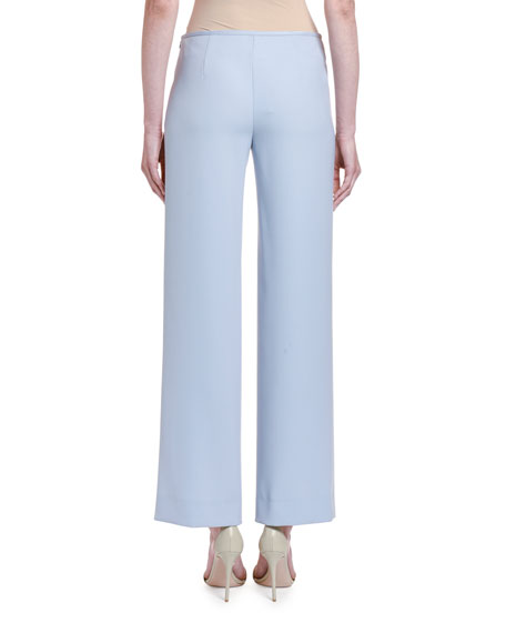 Image 2 of 2: Giorgio Armani Chambray Straight-Leg Pants