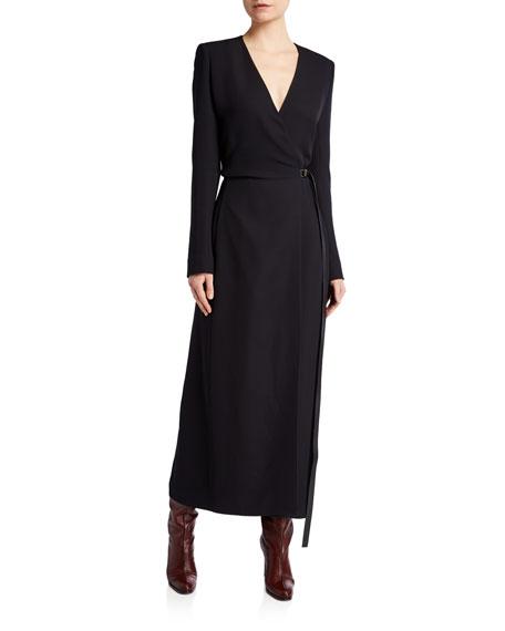 THE ROW Vana Belted Wrap Silk Dress