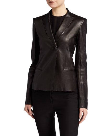 THE ROW Emi Leather Blazer