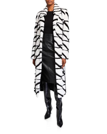 Burnett New York Mink Intarsia Coat