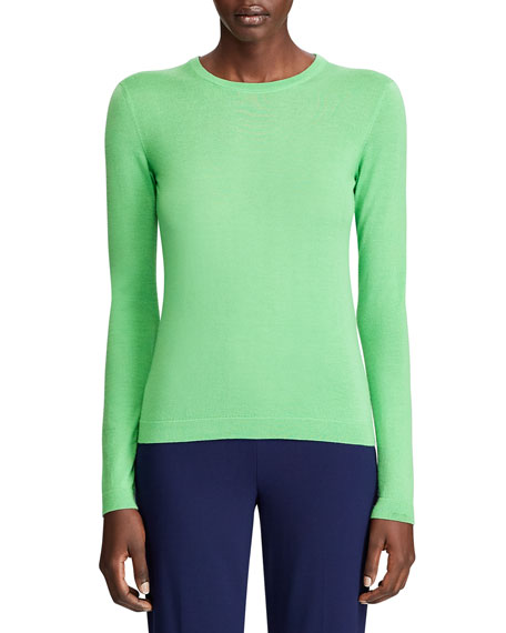 Ralph Lauren Collection Cashmere Fitted Crewneck Sweater