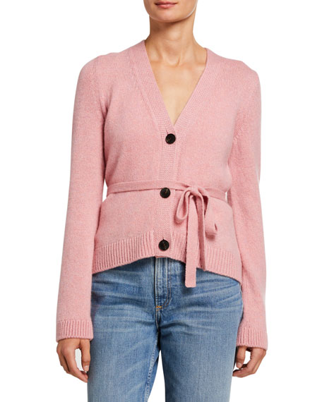 Image 1 of 3: Brock Collection Cashmere Tie-Waist Cardigan