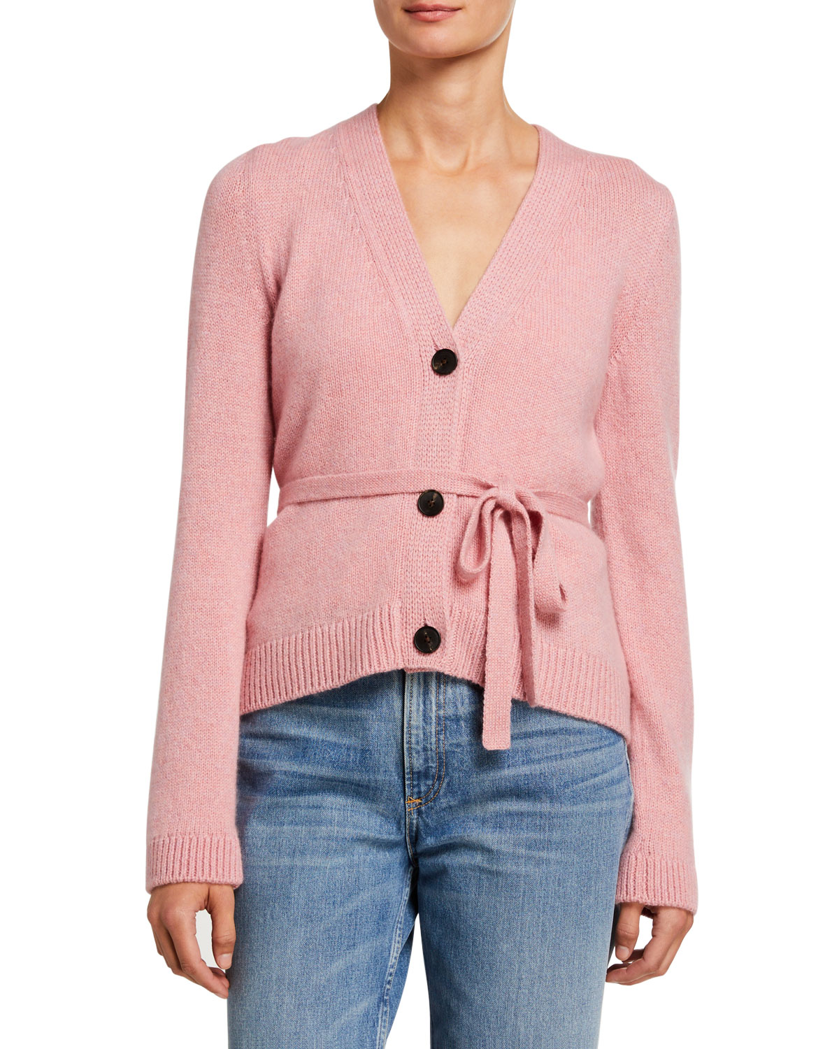 Brock Collection Cashmere Tie-Waist Cardigan