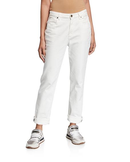 Brunello Cucinelli Monili-Beaded Cuff Jeans