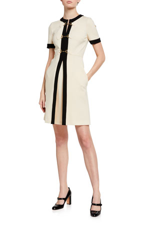 Gucci Compact Jersey Horsebit-Front Dress