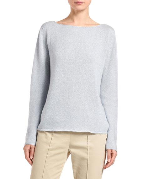 Agnona Cashmere-Linen Boat-Neck Sweater