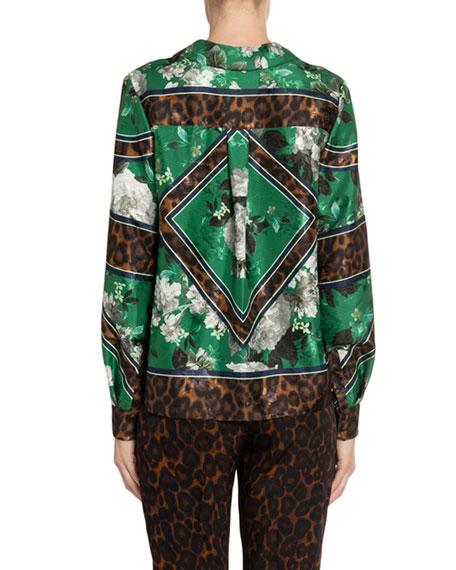 Erdem Milton Button-Front Shirt