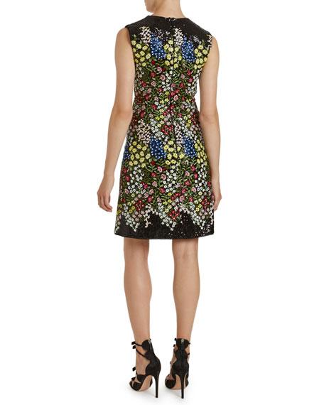 Giambattista Valli Sleeveless Multi-Print Dress