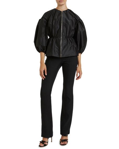 Giambattista Valli Taffeta 3/4-Balloon Sleeve Jacket