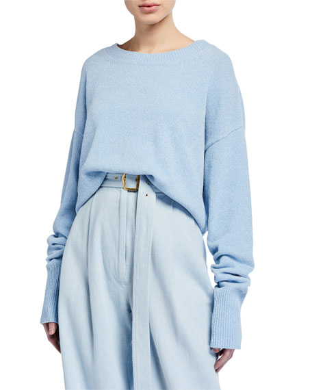 Sies Marjan Nasim Denim-Effect Chenille Sweater