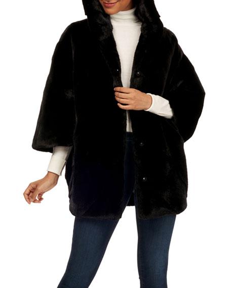 Gorski Batwing-Sleeve Mink Fur Parka Coat