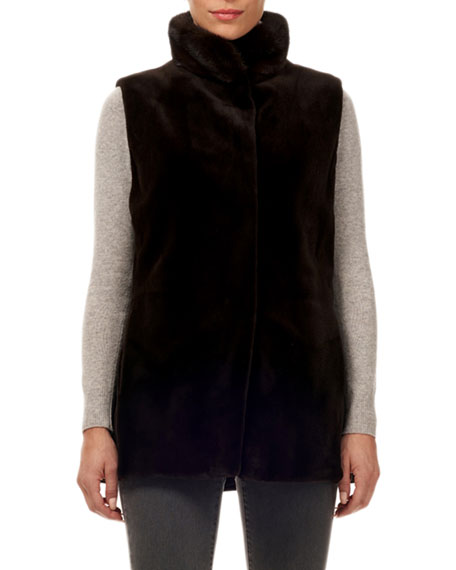 Image 1 of 3: Gorski Reversible Mink Fur Vest