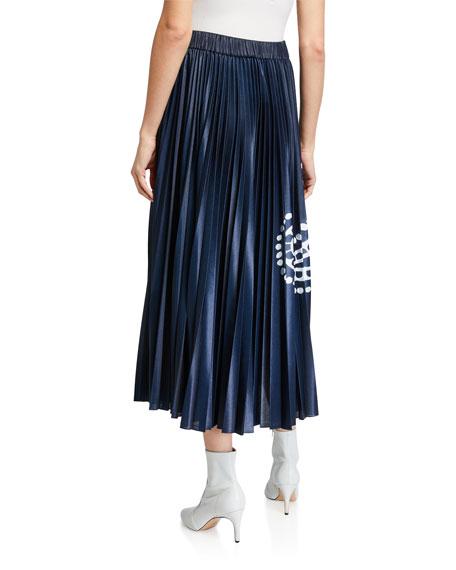 Escada Paisley Print Metallic Midi Skirt