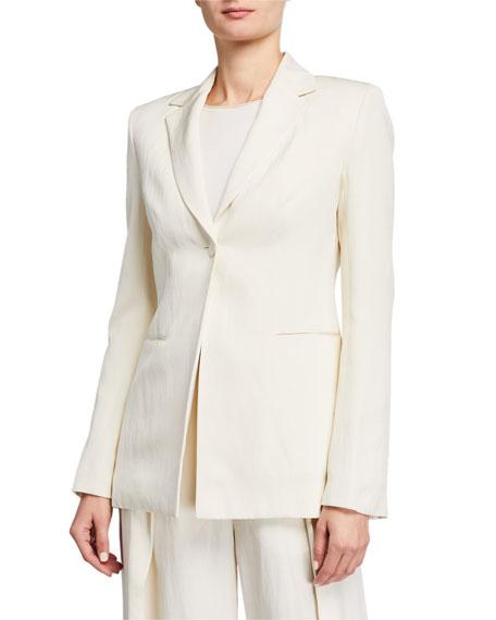 THE ROW Kiro Silk-Linen Blazer Jacket