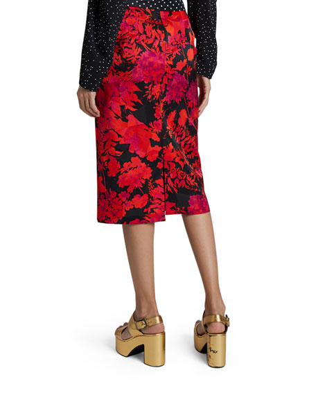 Dries Van Noten Floral Polka-Dot Skirt