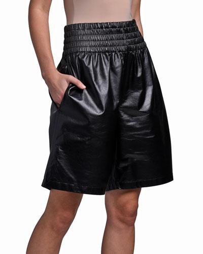 Leather Boxing Shorts