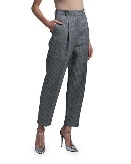 Ermanno Scervino Pinstriped Ankle Pants