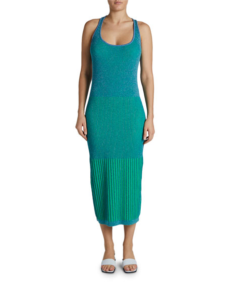 Maison Ullens Scoop-Neck Ribbed-Knit Bodycon Dress