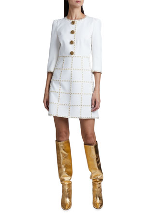 Andrew Gn 3/4-Sleeve Button-Front Tunic