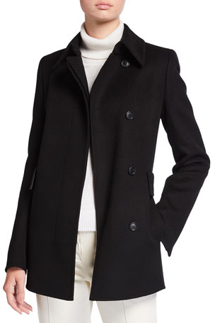 Akris Notch Collar Cashmere Peacoat