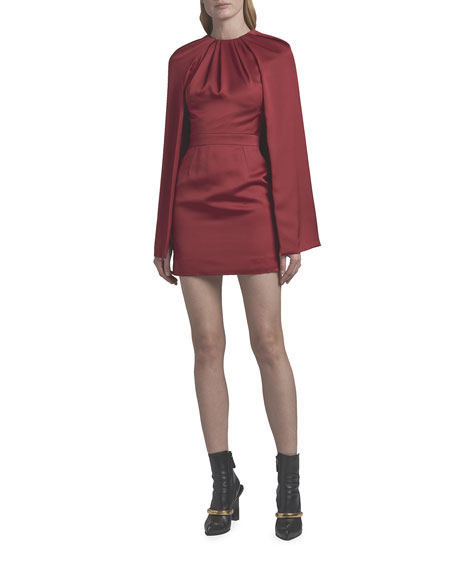 Image 1 of 2: Alexander McQueen Silk Cocktail Dress with Cape