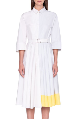 Akris Colorblock Shirtdress