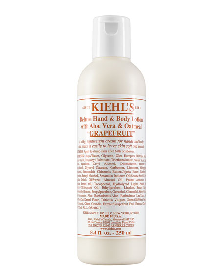 Grapefruit Deluxe Hand & Body Lotion with Aloe Vera & Oatmeal, 8.4 fl. oz.