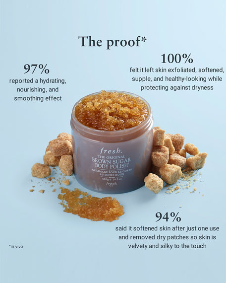Fresh Brown Sugar Body Polish Exfoliator, 14.1 oz.