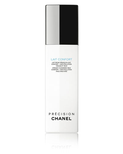 CHANEL <b>LAIT CONFORT</b><br>Creamy Cleansing Milk Comfort + Anti-Pollution Face And Eyes 5 oz.