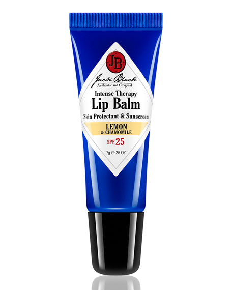 Jack Black Black Diamond Formula Intense Therapy Lip Balm SPF 25, 0.25 oz.
