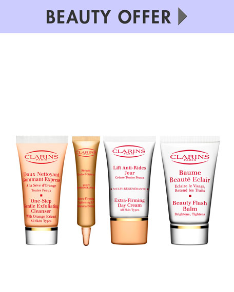 Yours with any $90 Clarins purchase