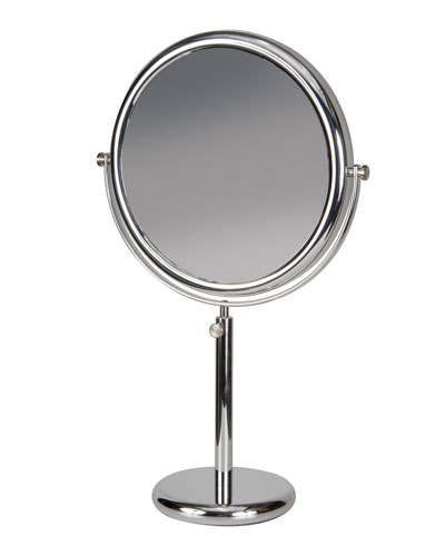 Chrome Vanity Stand Double Sided Mirror, 9.5