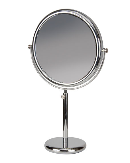 Chrome Vanity Stand Double Sided Mirror, 9.5""