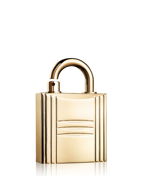 Hermès Refillable Lock Spray, Gold Tone, 0.3 oz., 8.0 oz.