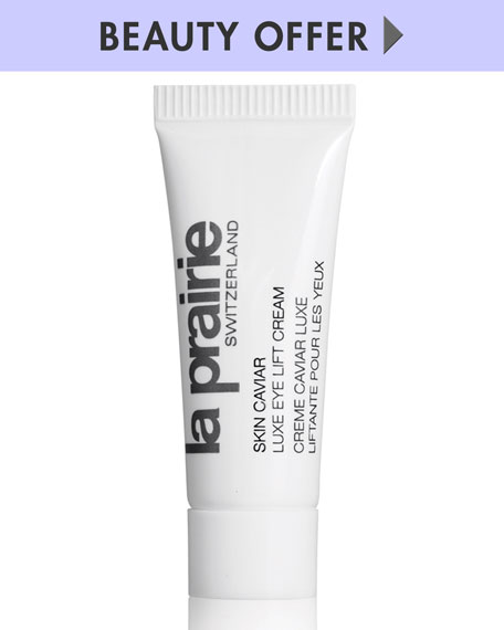 Yours with any La Prairie purchase—Online only*