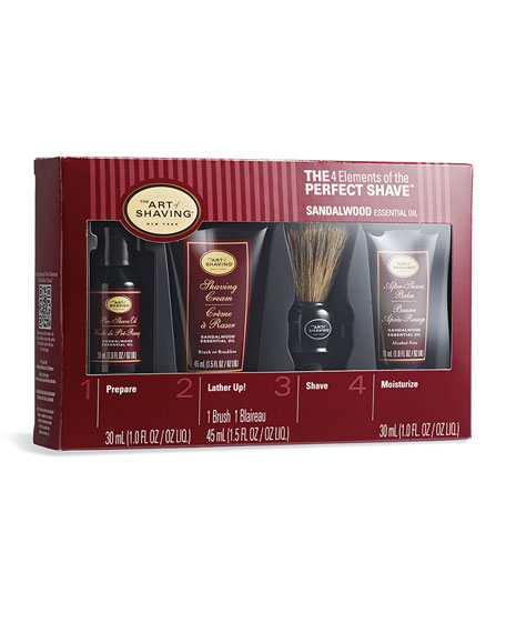 4 Elements of the Perfect Shave Mid-Size Kit, Sandalwood