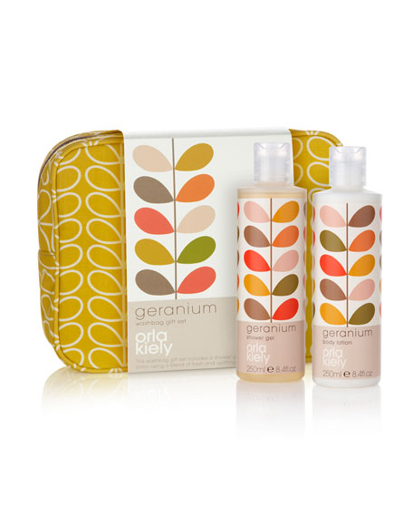 Orla Kiely Geranium Wash Bag Set