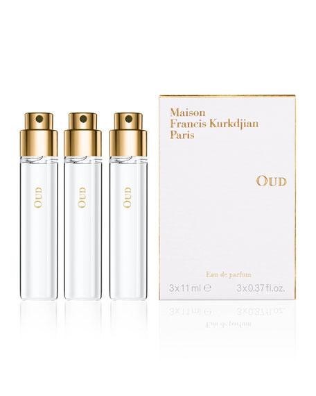 Maison Francis Kurkdjian OUD Eau de Parfum Travel Spray Refills, 3 x 0.37 oz./ 11 mL