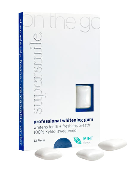 Supersmile On-The -Go Whitening Gum, 12 Pieces