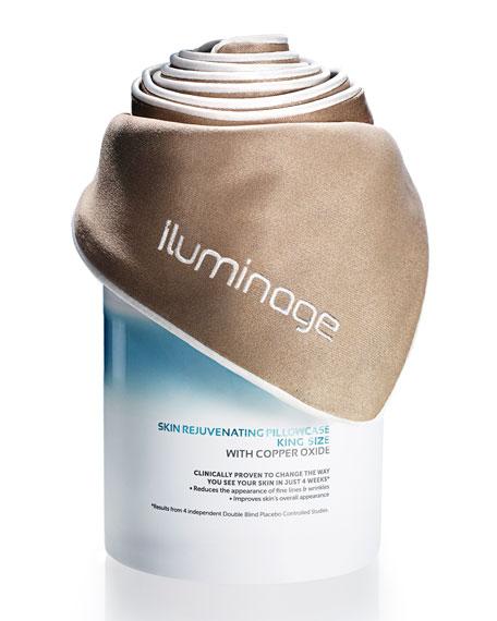 Iluminage Beauty Skin Rejuvenating Pillowcase, King Size