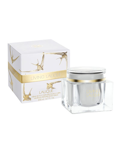 Living Lalique Luxury Cream Jar  6.7 oz./ 200 mL