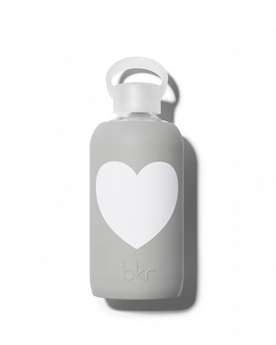 Glass Water Bottle, London Heart, 500 mL