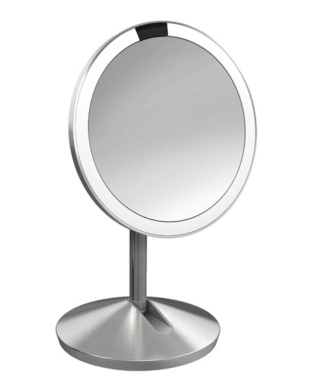 Simple human 5 sensor makeup mirror with travel case for Makeup mirror