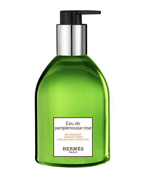 Hermes EAU DE PAMPLEMOUSSE ROSE HAND AND BODY CLEANSING GEL, 10 OZ.