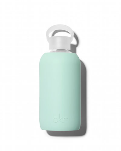 Glass Water Bottle, Mint Green, Lou, 500 mL