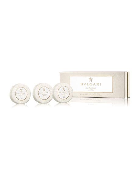 BVLGARI Eau Parfumée Au Thé Blanc Soap Set, 3 x 150 g