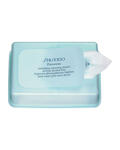 Shiseido Pureness Refreshing Cleansing Sheets, 30 count