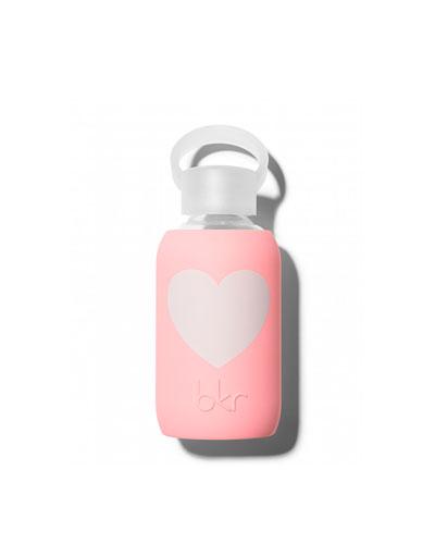 Glass Water Bottle, Elle Heart, 250 mL