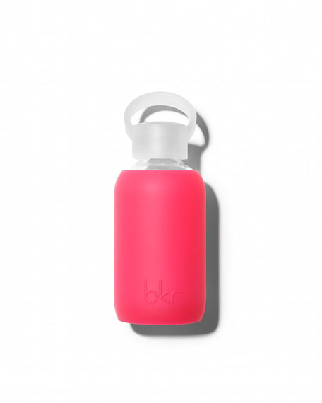 Glass Water Bottle, Bisous, 250 mL
